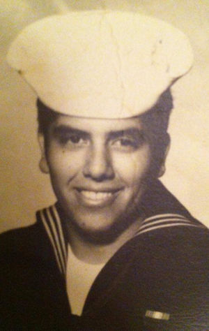 Young Abe Tamayo in the Navy