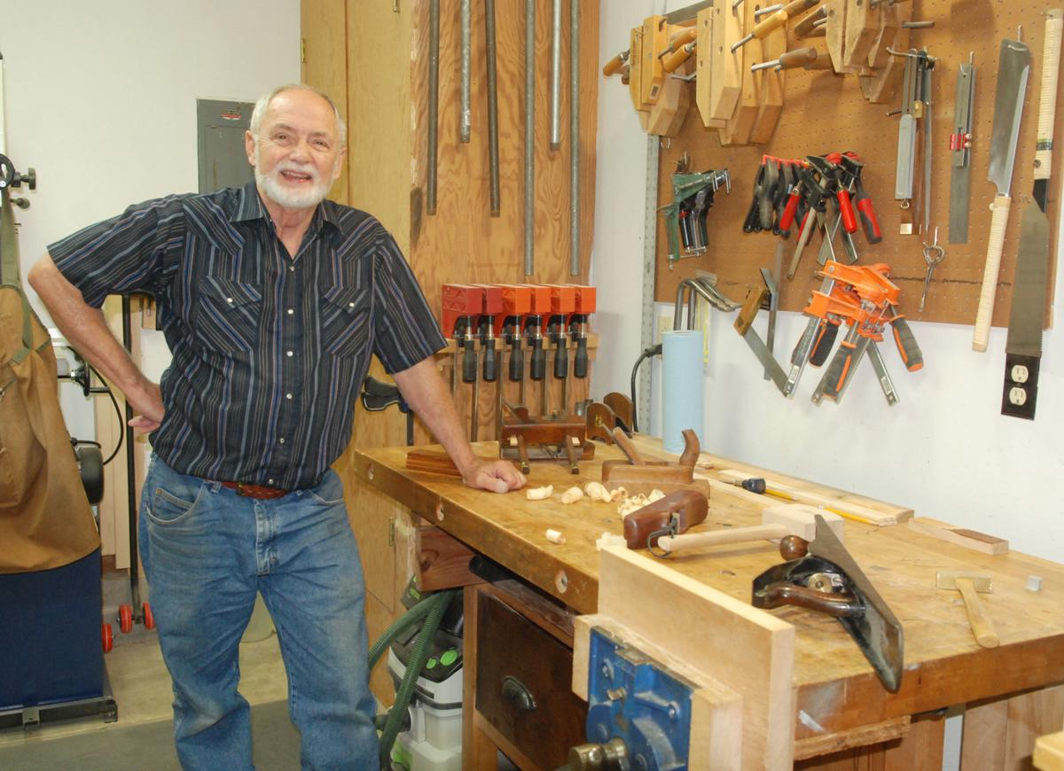Woodworker standing in shop