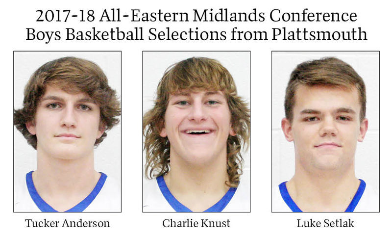 2017-18 All-Eastern Midlands Conference Boys Basketball Selections from Plattsmouth