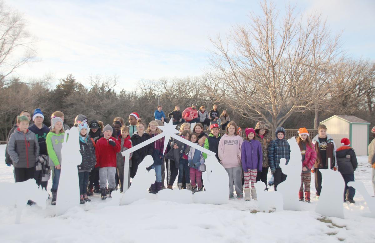 Kids at Christmas camp