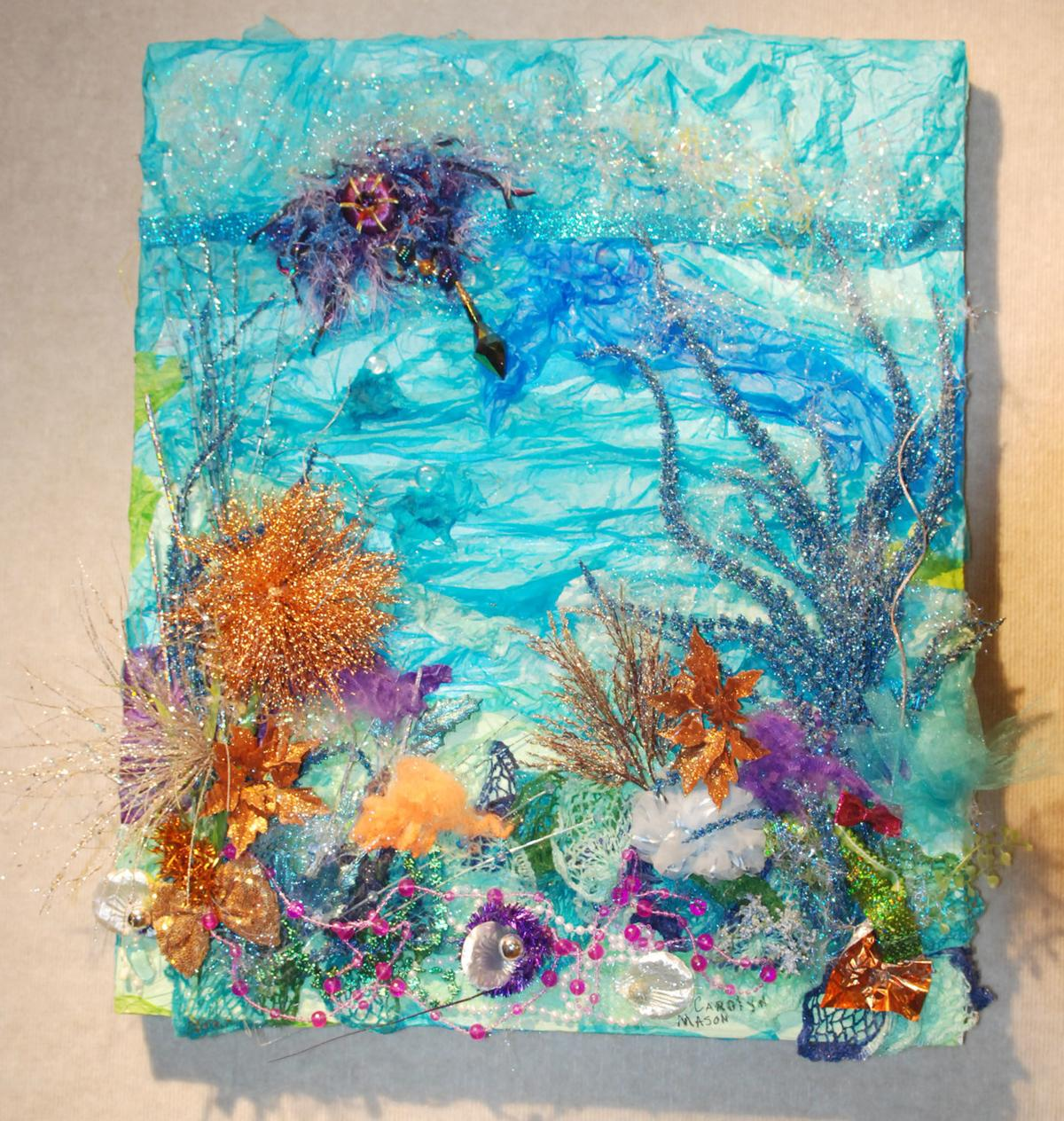Colorful blue artwork
