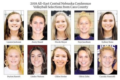2018 All-East Central Nebraska Conference Volleyball Selections from Cass County