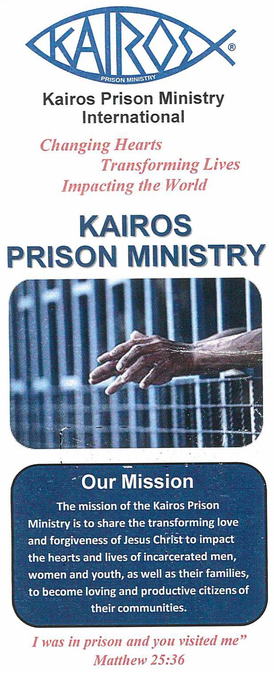 Kairos ministry pamphlet