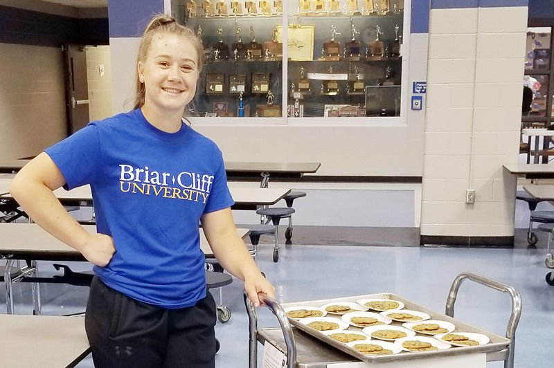 Alyx with cookies for Blue Bucks program