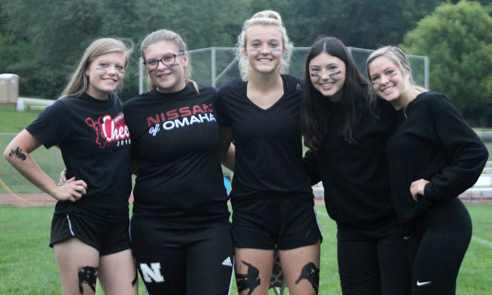 Juniors before kickball games