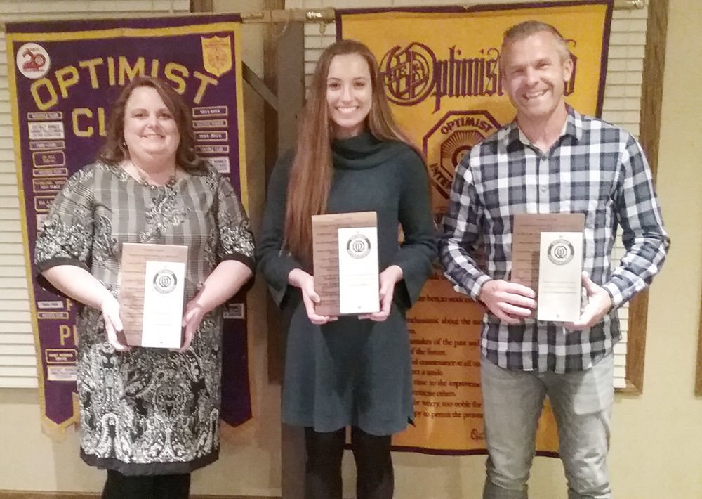 Plattsmouth Optimist Club award recipients 2018