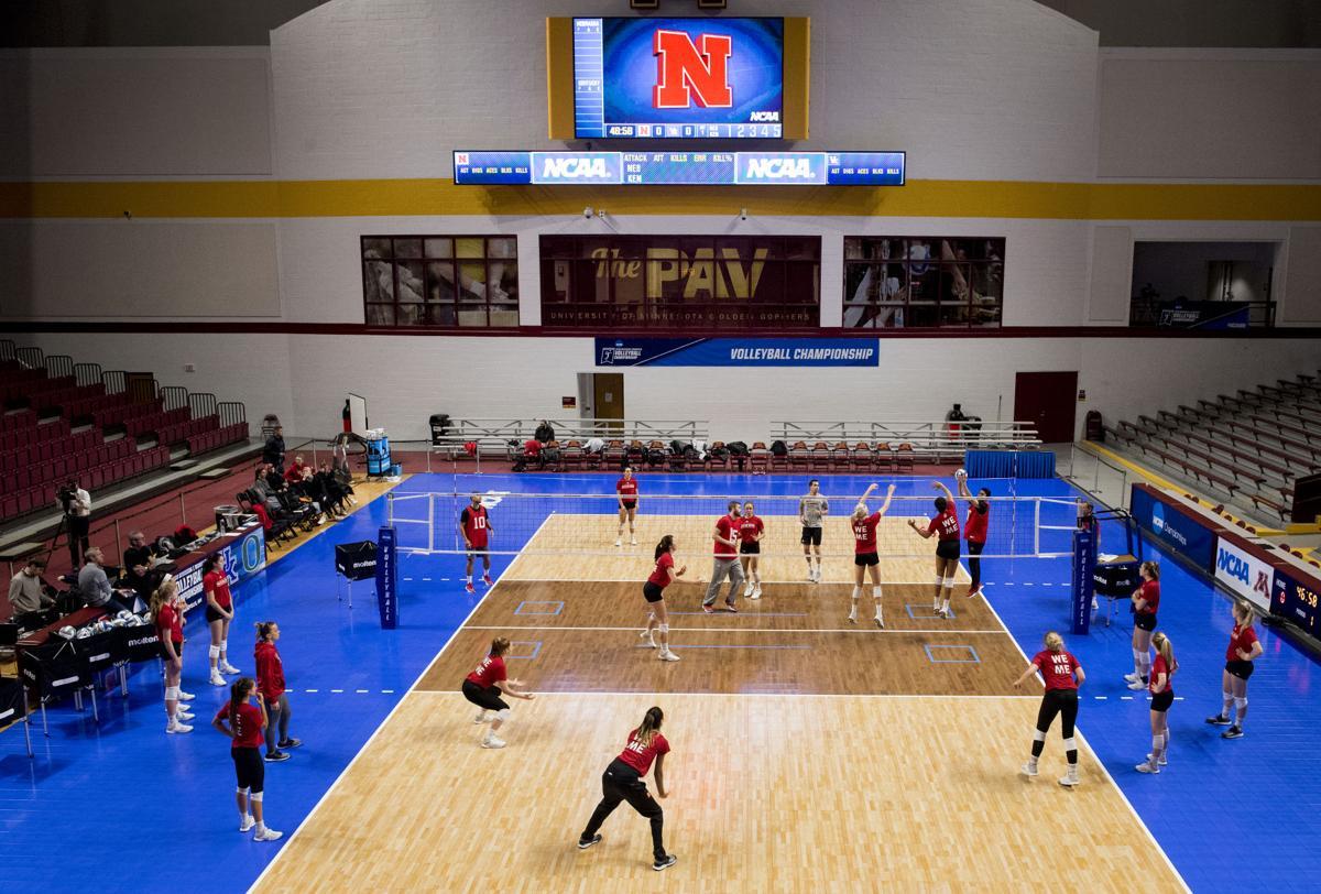 Nebraska Volleyball Practice in Minneapolis, 12.06