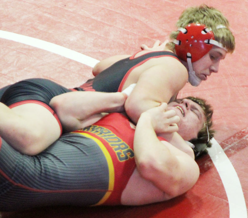 Slater Mozena pins Southwest Iowa
