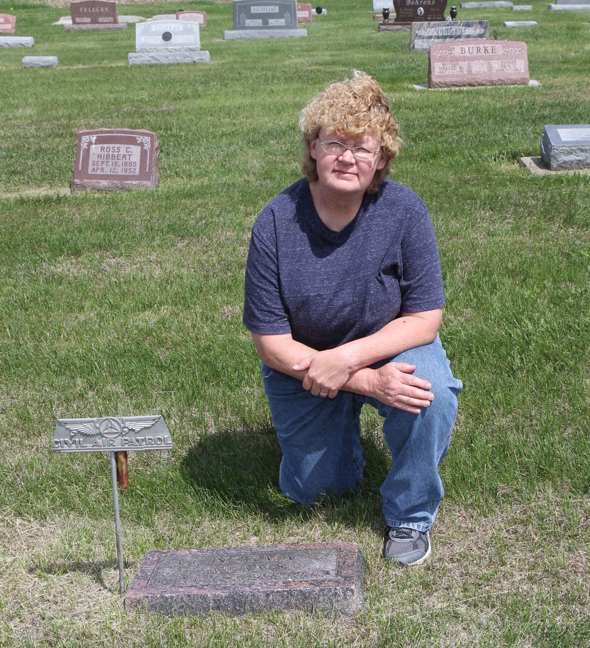 Sheila Day by Norma Adams grave