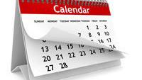 Calendar of events for May 7-9