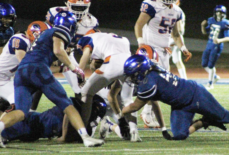 Plattsmouth makes tackle vs Gross photo 1