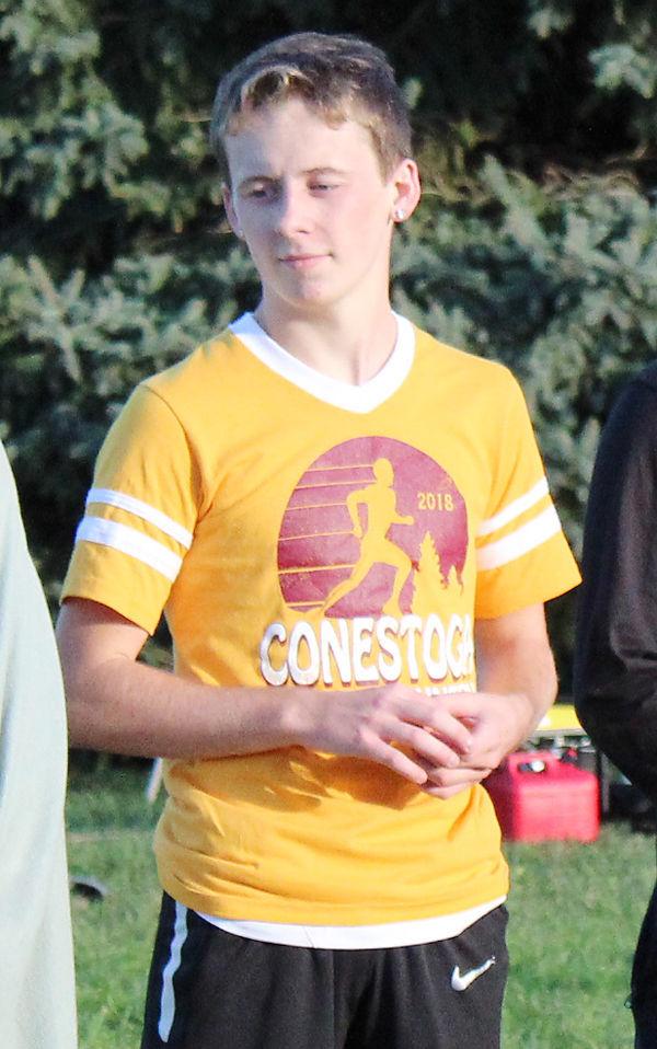 Dawson Hardesty with district medal
