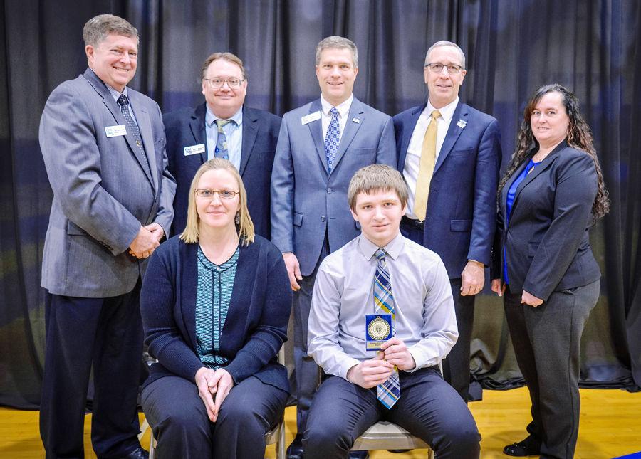 Hayden Ernst wins award at Peru State High School Business Contest