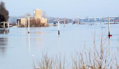 Plattsmouth water plant view in floods
