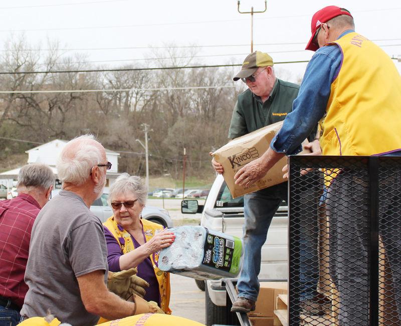 Unloading supplies at warehouse