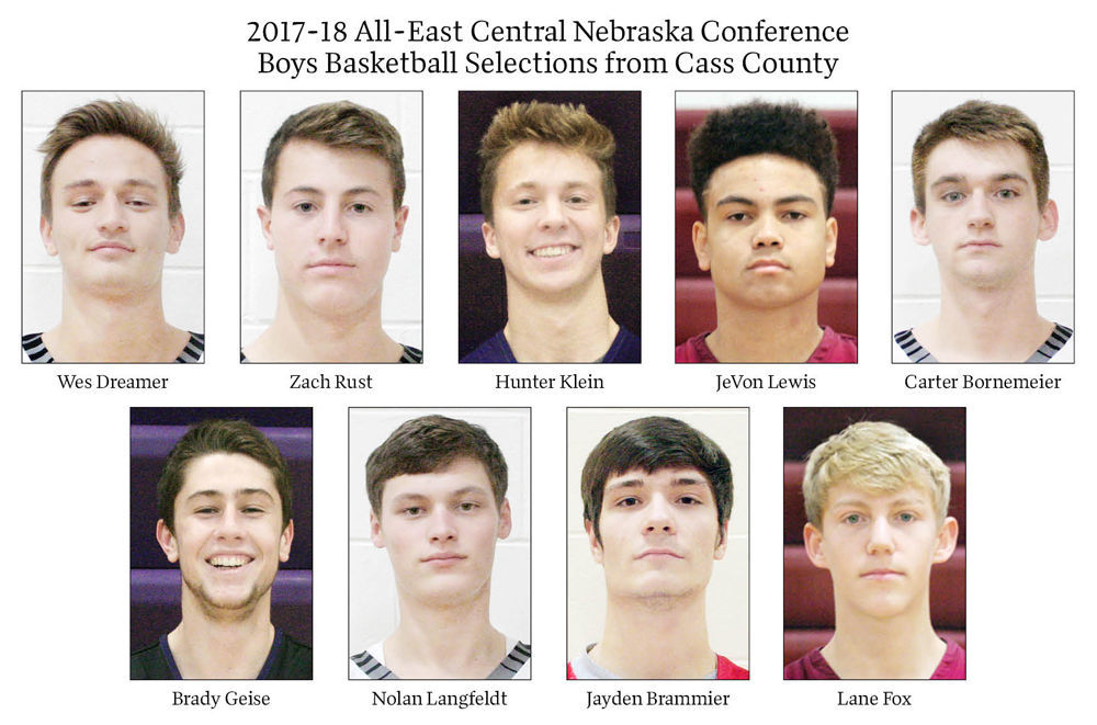 2017-18 All-East Central Nebraska Conference Boys Basketball Selections from Cass County