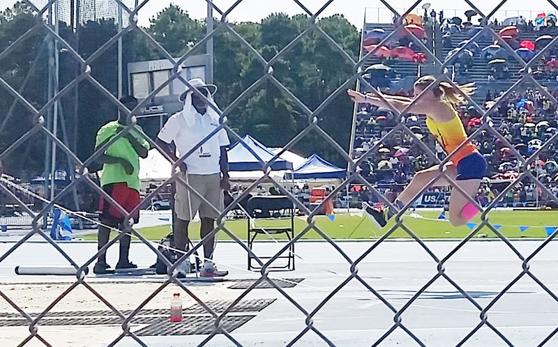 Haley Miller in National Junior Olympic Track and Field Championships 2