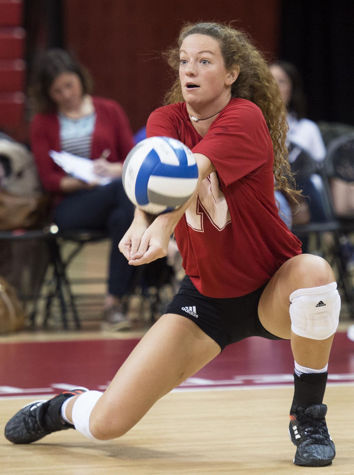 Nebraska volleyball clinic, 4/7/18