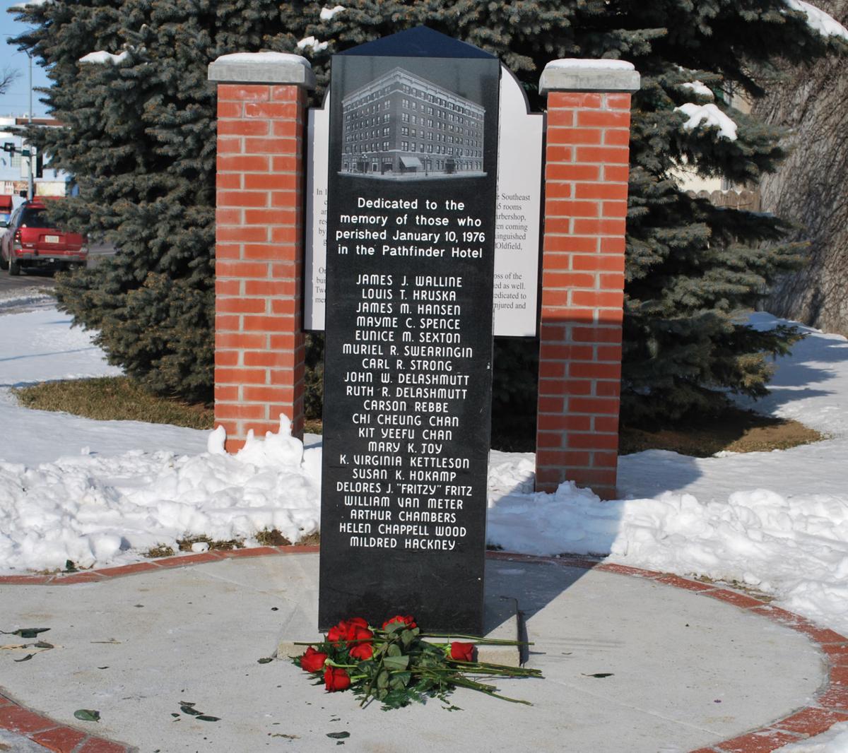 Pathfinder Hotel memorial