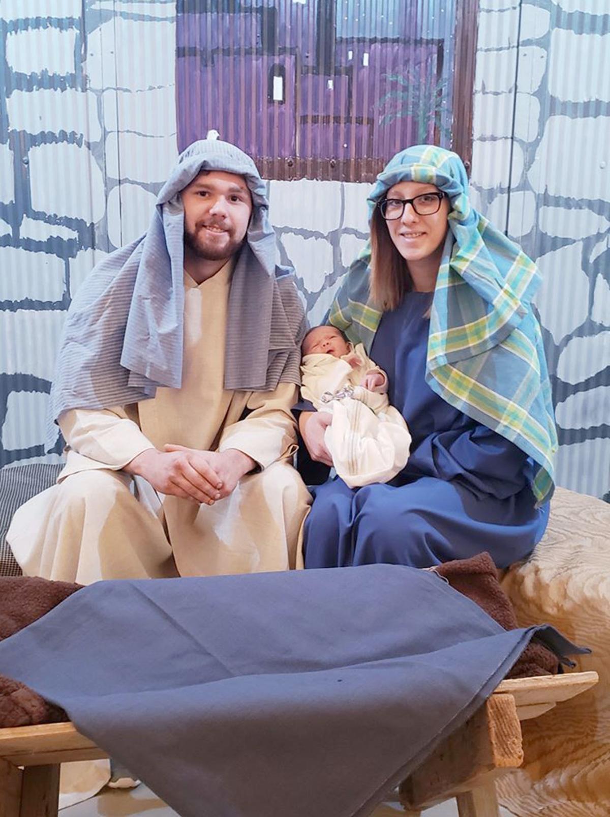 Joseph, Mary and Baby Jesus