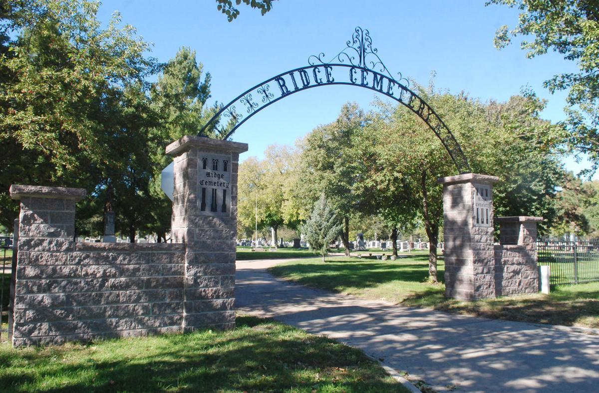 Ridge Cemetery front entrance