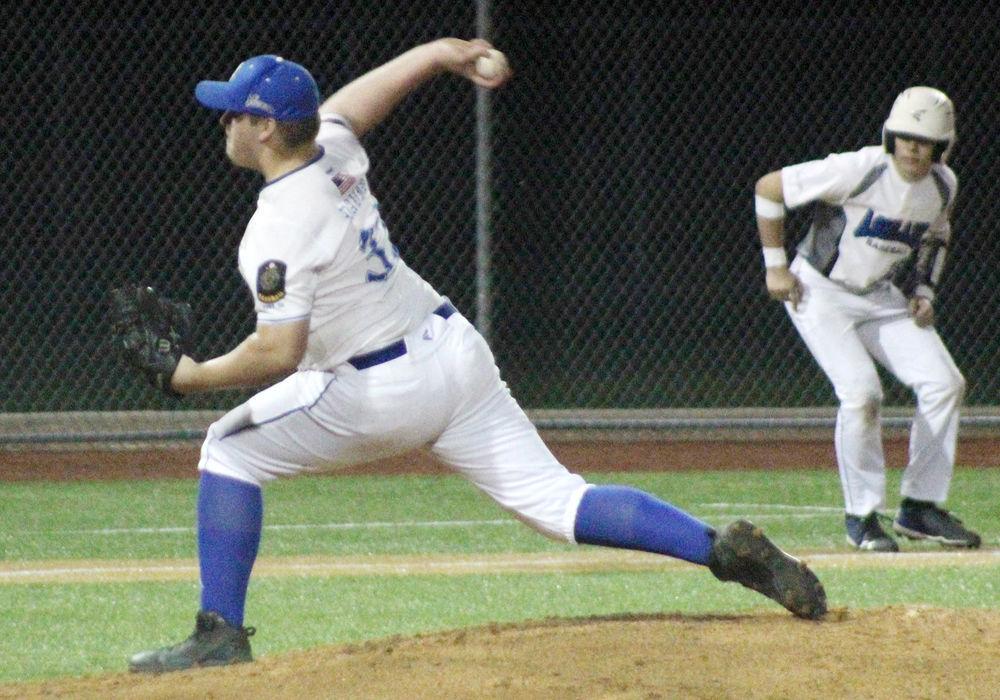 Jacob Davis pitches vs Ashland
