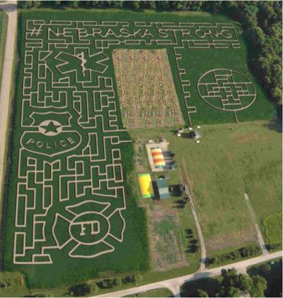 2019 Camp Fontanelle corn maze design