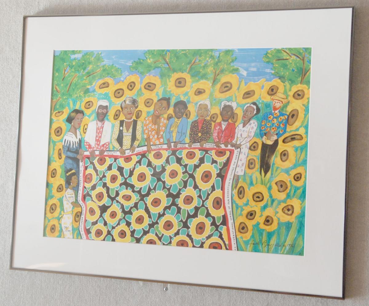 Sunflower quilt picture