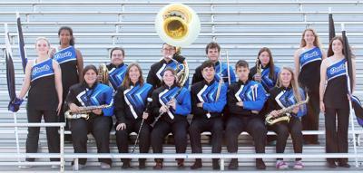 Plattsmouth senior marching band musicians