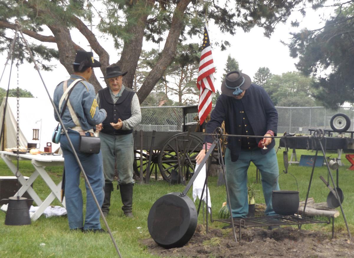 Union army encampment