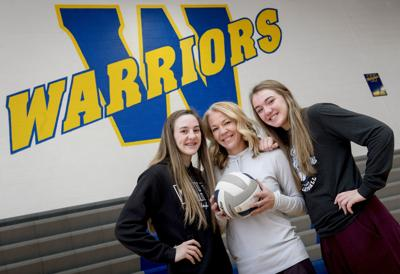 Wahoo Volleyball Coach and Daughters, 11.7.18