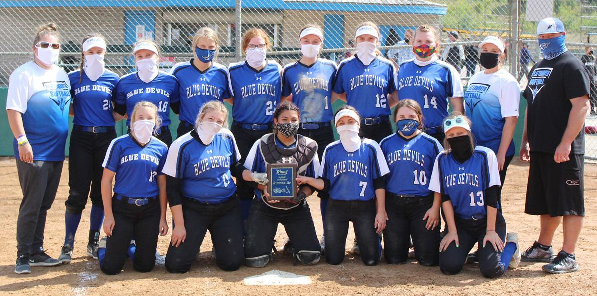 Plattsmouth with second place trophy at Omaha Mercy Invite