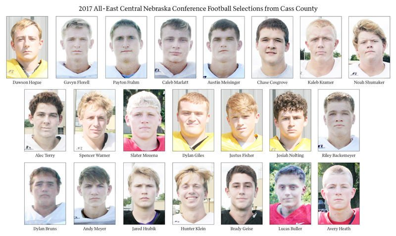 2017 All-East Central Nebraska Conference Football Selections from Cass County