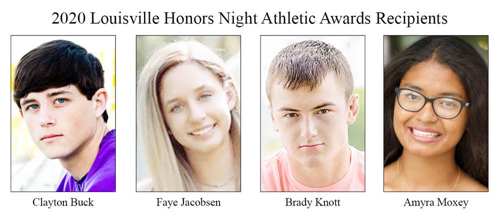 2020 Louisville Honors Night Athletic Awards Recipients