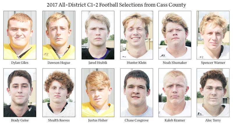 2017 All-District C1-2 Football Selections from Cass County