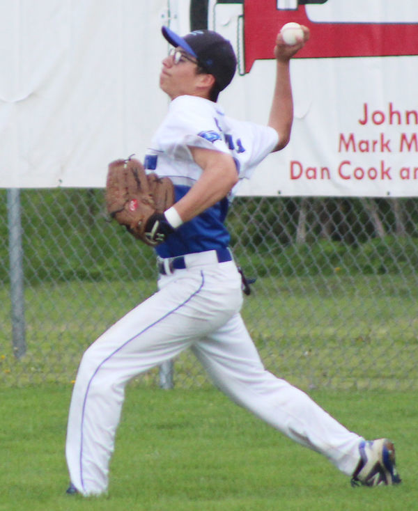Jehu Montes throws from right field