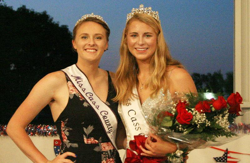 Miss Cass County 2018 Sophia Svanda and Miss Cass County 2017 Sydney Keckler