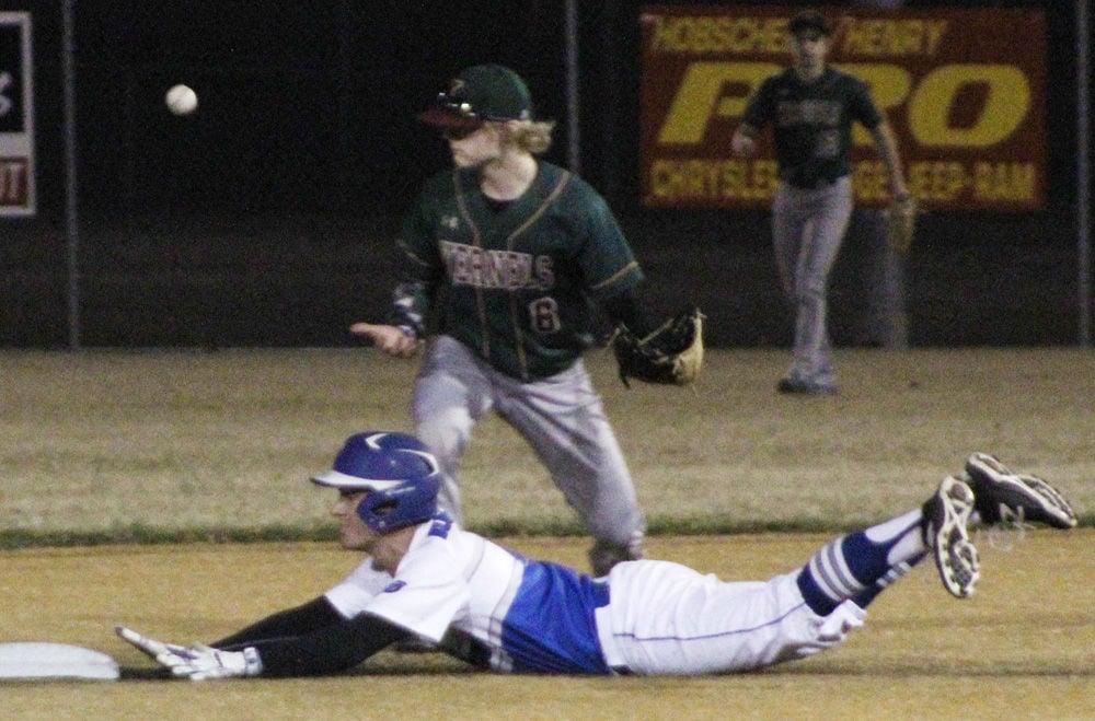 Nathan Konkler steals second base