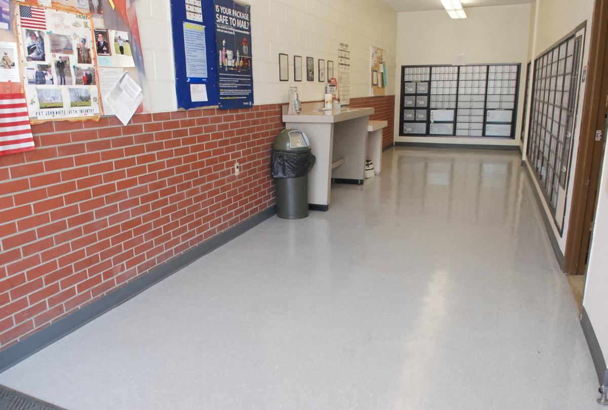 New tile in post office lobby