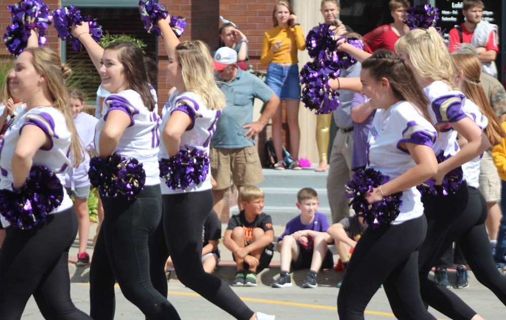 Dance team in parade photo