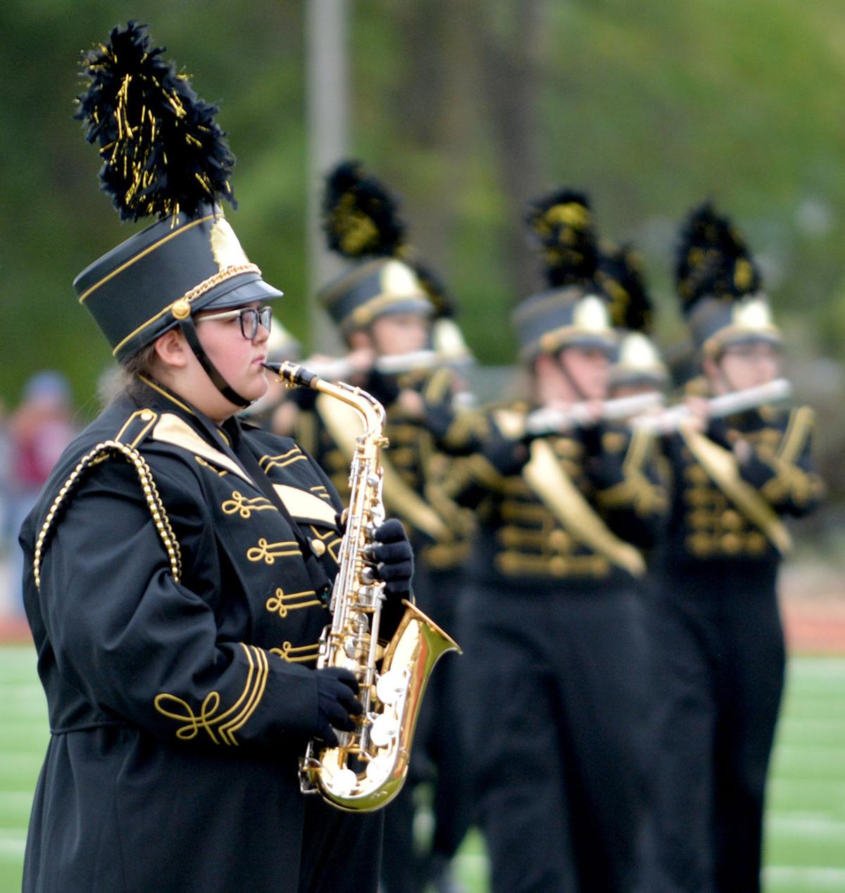 FHS marching band makes most of visit to Memorial Stadium