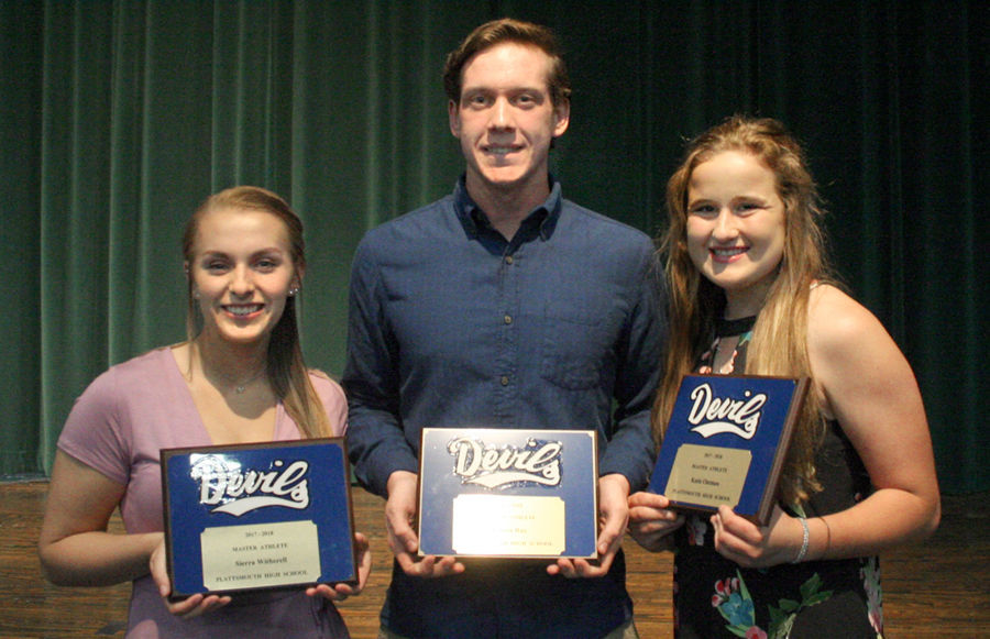 Plattsmouth Master Athlete Award winners