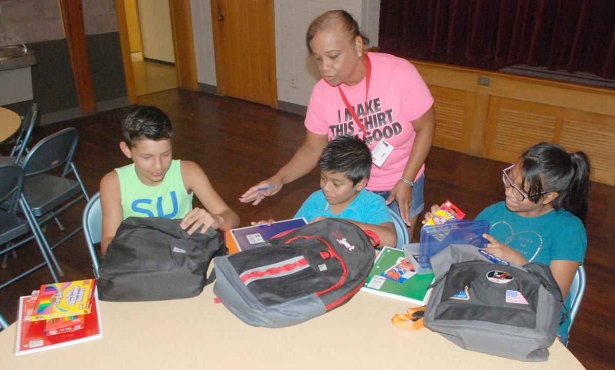 Summer Lunch Program backpacks
