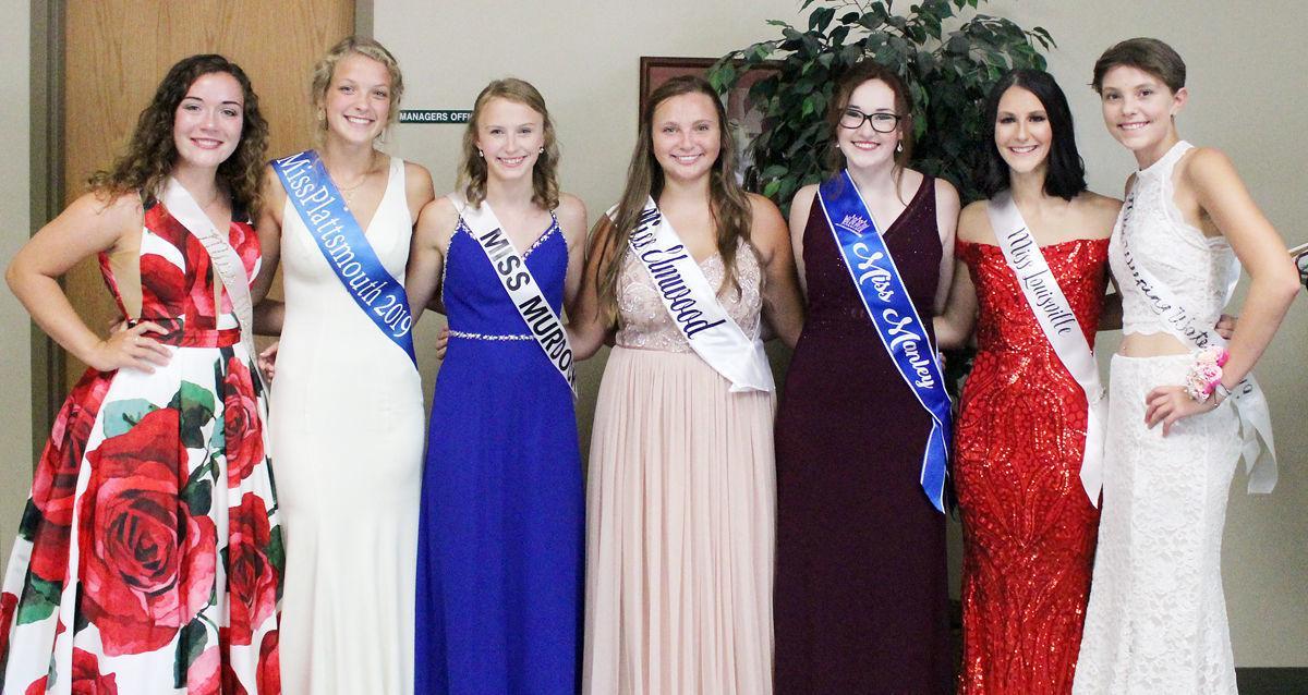 Contestants for Miss Cass County Queen Contest