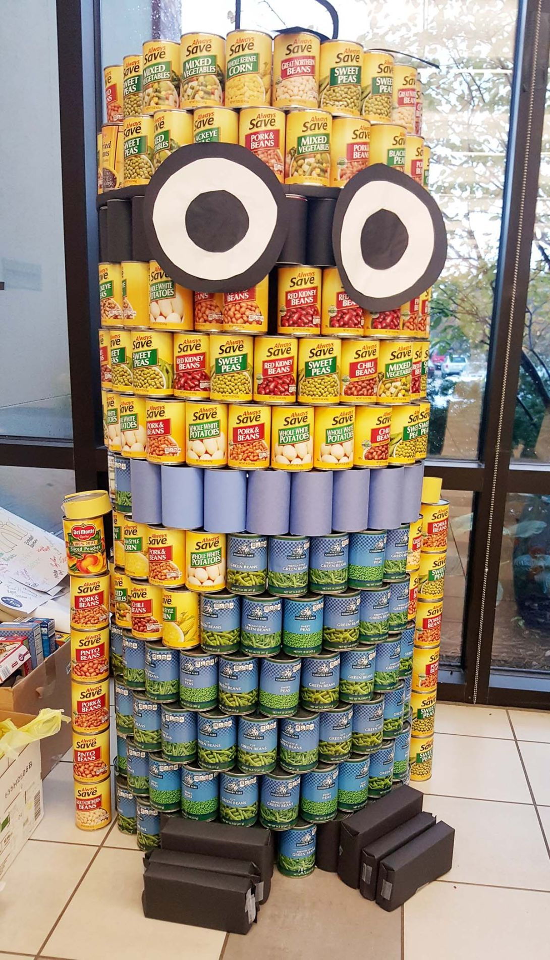 students benefit community through canned food drive education