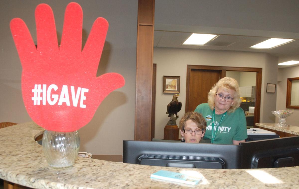 Big Give donation made at bank