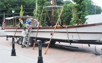 Lewis and Clark pirogue for Beaver Lake event