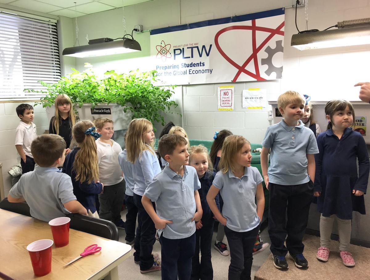 Children at trinity llistening