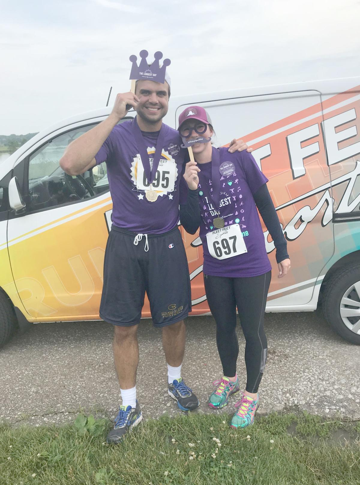 Couple at fundraising 5K run