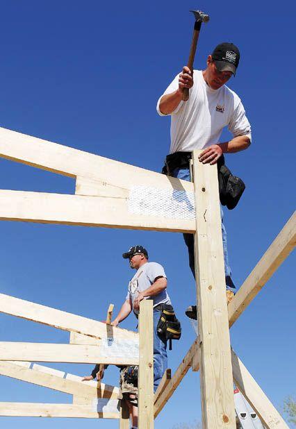 Contractors Build Structure For Ymca